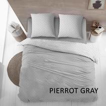 Dekbedovertrek Flanel Pierrot Grey
