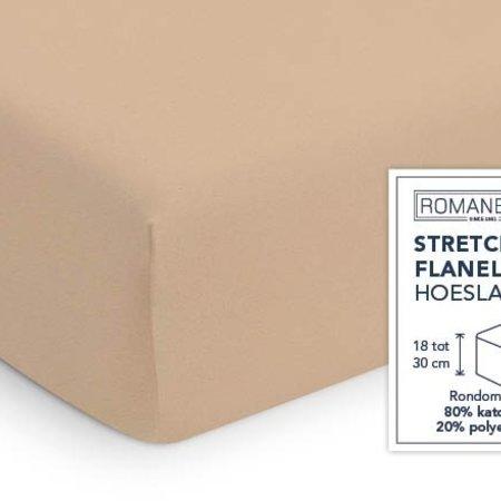 Romanette Hoeslaken Stretch Flanel Camel