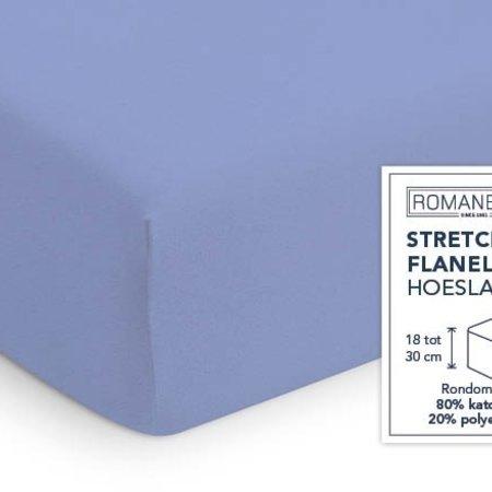 Romanette Hoeslaken Stretch Flanel Lavendel