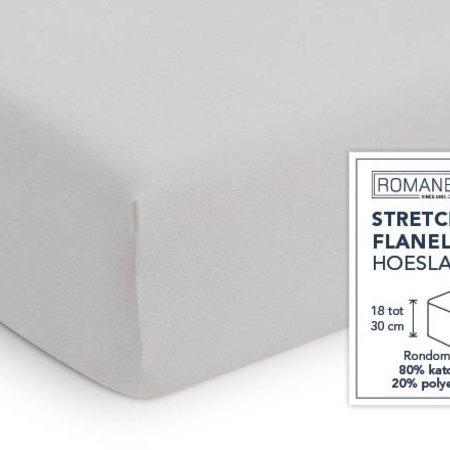 Romanette Hoeslaken Stretch Flanel Silver