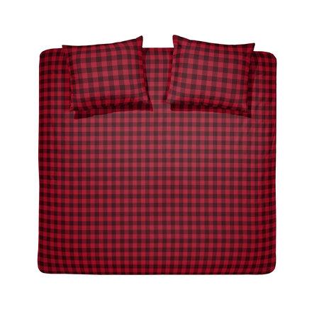 Damai Dekbedovertrek Flanel Timber Red