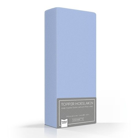 Romanette Topper Hoeslaken Double Jersey Blue