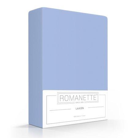 Romanette Laken Katoen Bleu