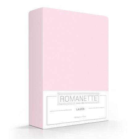 Romanette Laken Katoen Rose