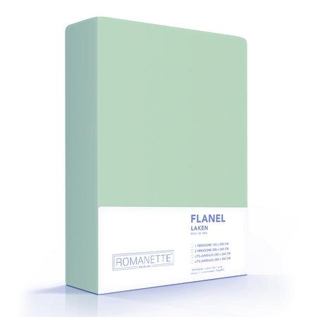 Romanette Laken Flanel Misty Green
