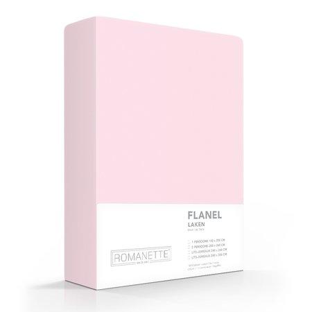 Romanette Laken Flanel Rose