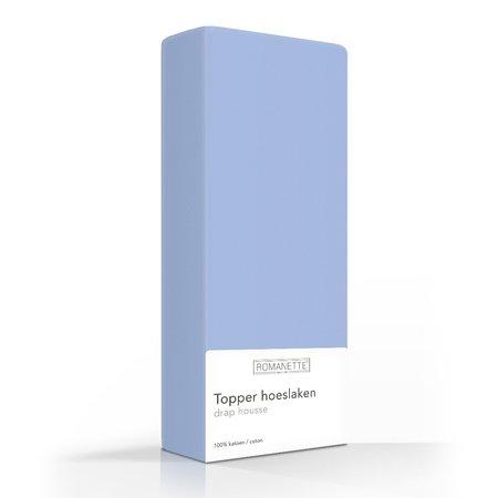 Romanette Topper Hoeslaken Katoen Bleu