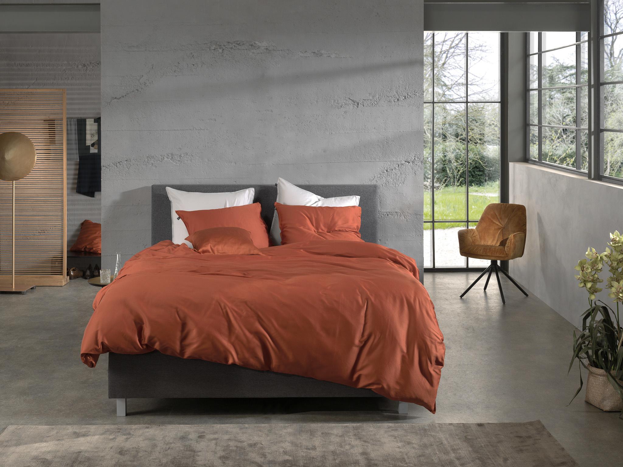 Zo! Home Dekbedovertrek Satijn Satinado Copper Orange