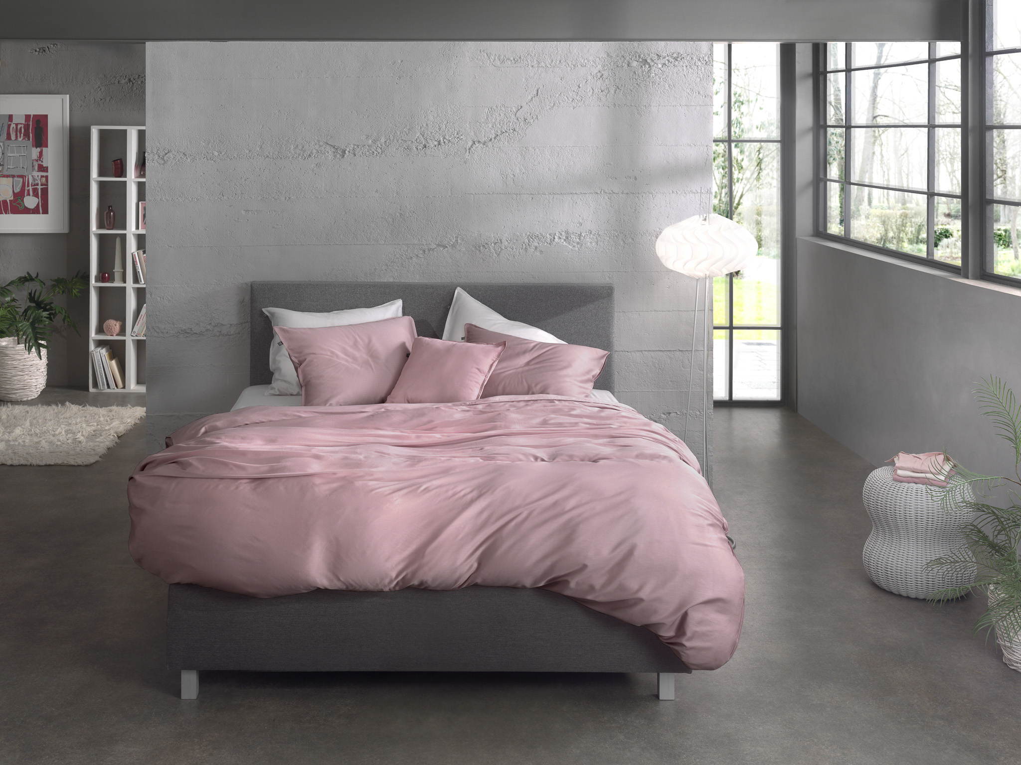 Zo! Home Dekbedovertrek Satijn Satinado Shady Pink