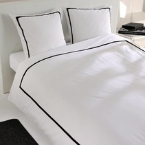 Dekbedovertrek Percale Monte Carlo White Black