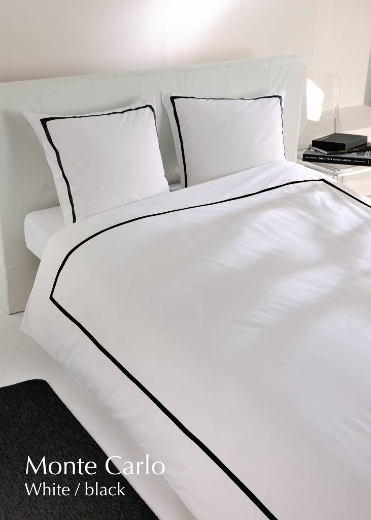 Carlina Dekbedovertrek Percale Monte Carlo White Black