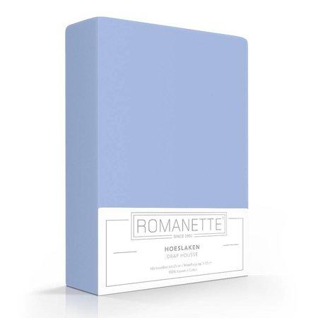 Romanette Hoeslaken Katoen Bleu