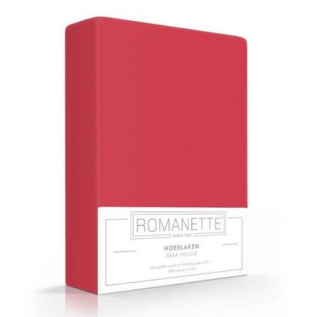 Romanette Hoeslaken Katoen Rood
