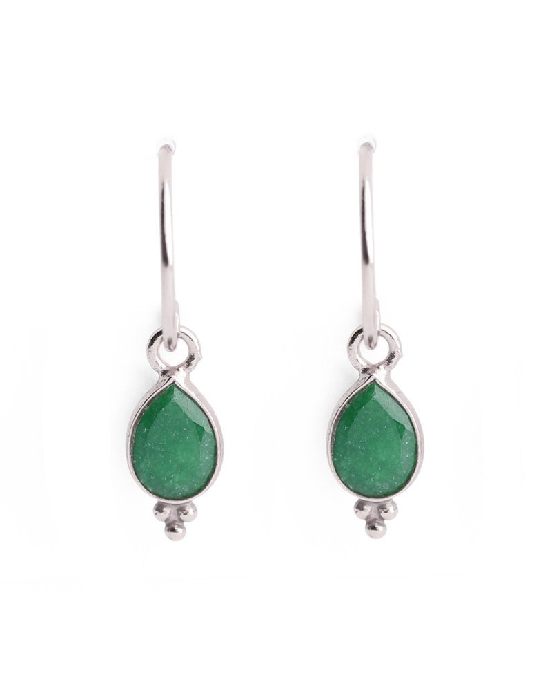 Muja Juma Earring drop 3 balls green zed