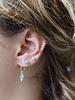 Muja Juma Earring stud drop amazonite
