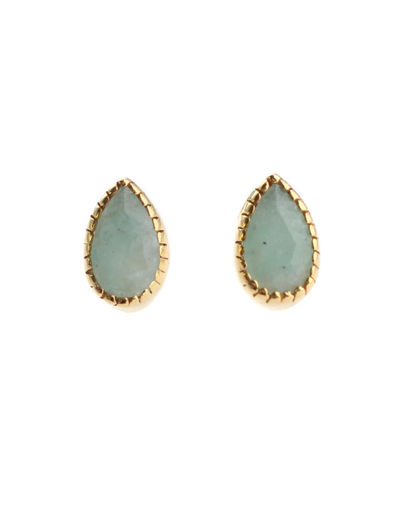 Muja Juma Earring stud drop amazonite