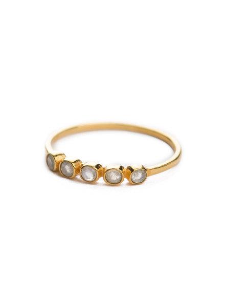 Muja Juma Ring gold plated 925 sterling silver