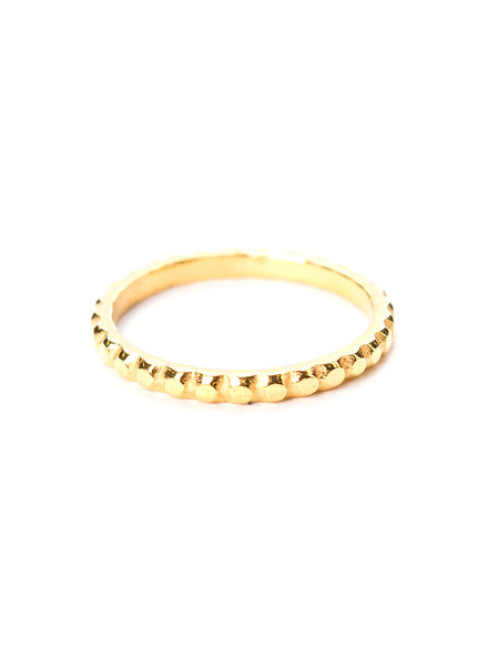 Muja Juma Ring gold plated 925 sterling silver