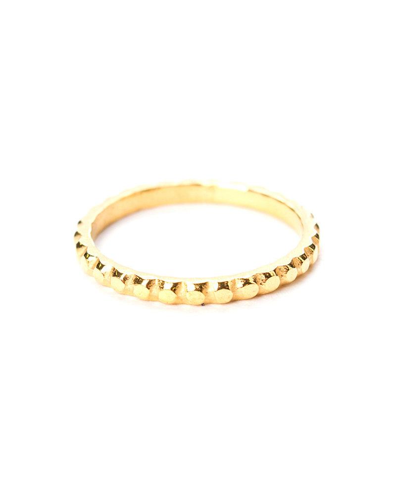 Muja Juma Ring size 54 plain band with dots gold plated
