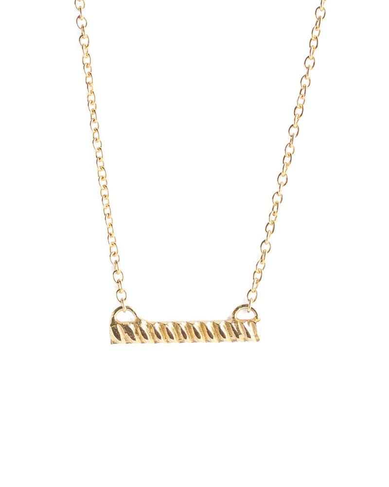Muja Juma Necklace braided bar gold plated