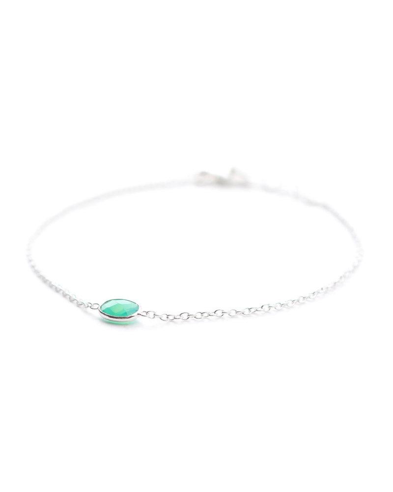 Muja Juma Bracelet oval silver chrysocolla chalcedony