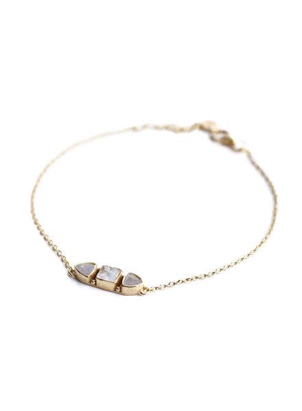 Bracelet gold plated 925 sterling silver