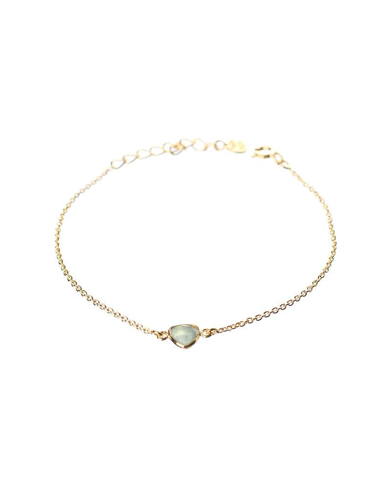 Muja Juma Bracelet gold plated with amazonite
