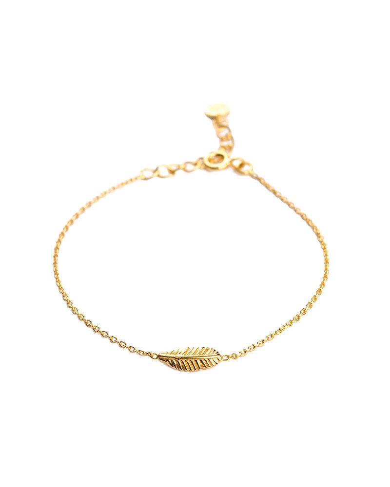 Muja Juma Bracelet feather gold plated