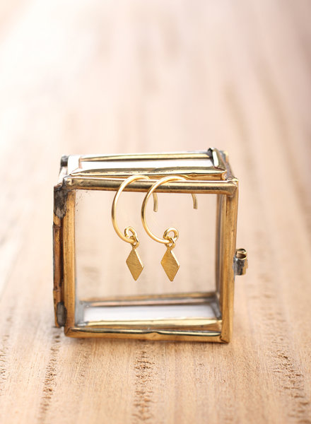 Muja Juma Earring gold plated 925 sterling silver