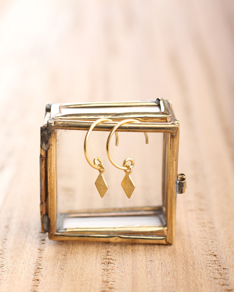 Muja Juma Earring flag gold-plated