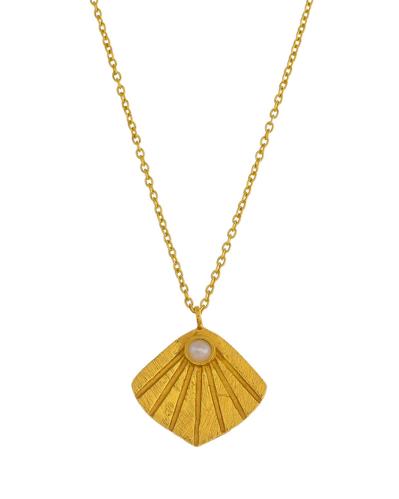 Muja Juma Necklace sweet water pearl gold plated 925 sterling silver