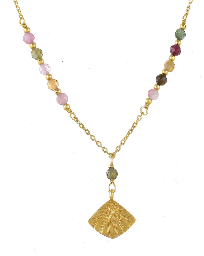 Muja Juma Necklace Wave gold plated 925 sterling silver