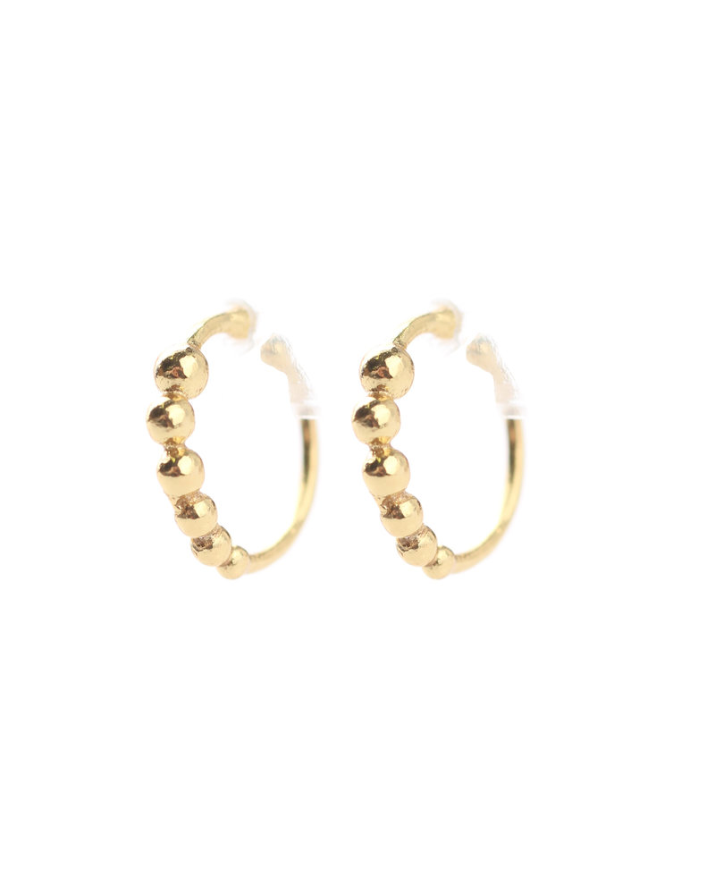 Muja Juma Earcuf goldplated 925 sterling silver