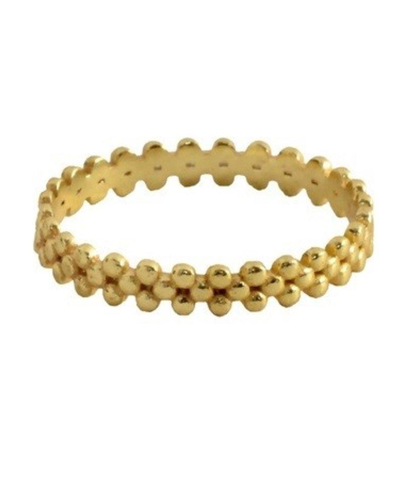 Muja Juma Ring Dots gold plated 925 Sterling Silver