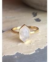 Muja Juma Ring Fancy Diamond Moonstone