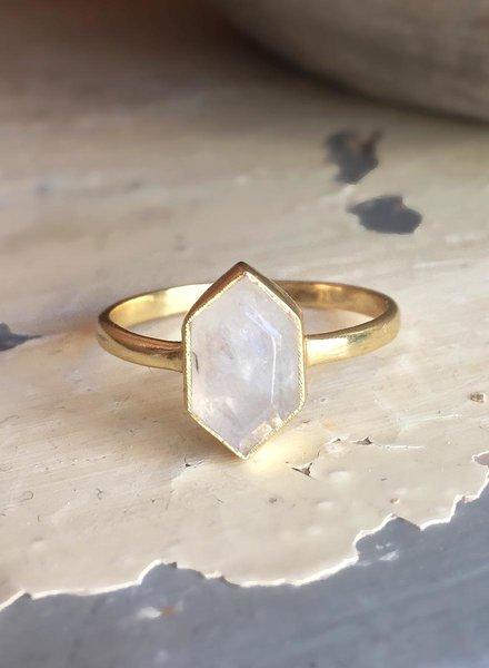 Muja Juma Ring Fancy Diamond Moss Achat - Copy