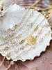 Muja Juma Bracelet Rose gold plated with peach moonstone