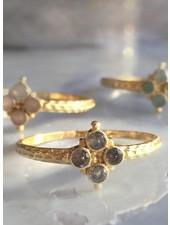 Muja Juma Ring Four Stones Labradorite