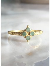 Muja Juma Ring Four Stones Amazonite