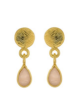 Muja Juma Earring Peach Moonstone drop stud