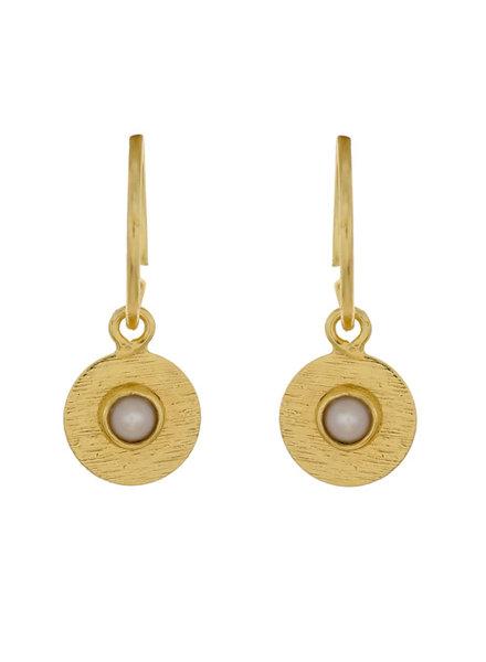 Muja Juma Earring Pearl Coin