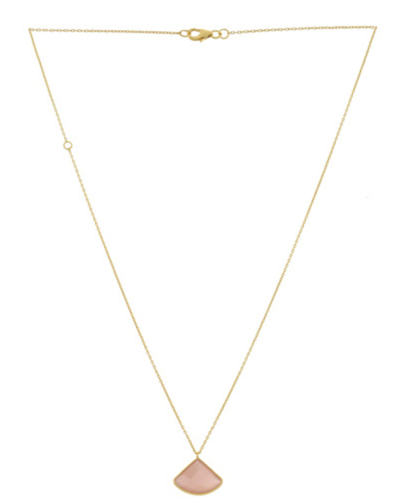 Muja Juma Necklace Fancy Peach moonstone goldplated 925 sterling silver