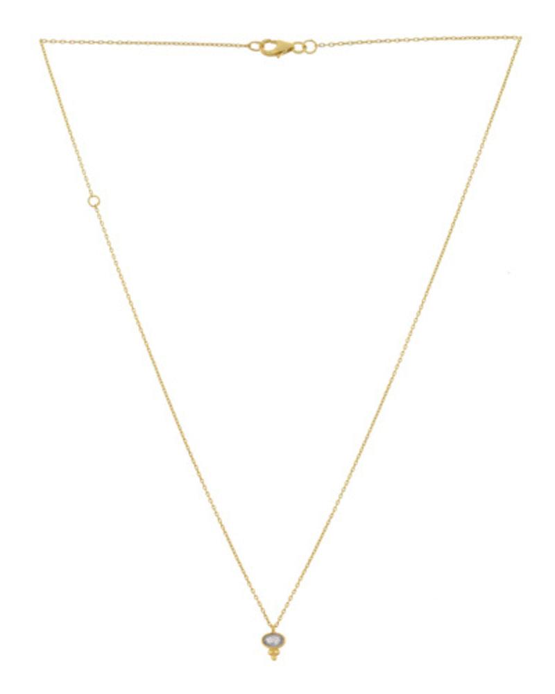 Muja Juma Halskette Labradorit Etnic oval vergoldet 925 Sterling Silber