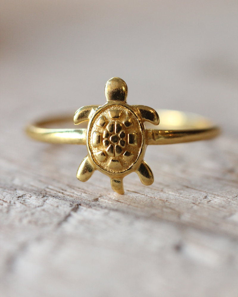 Muja Juma Ring Turtle gold plated 925 Sterling Silver