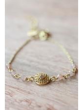 Muja Juma Bracelet Rose Labyrinth coin
