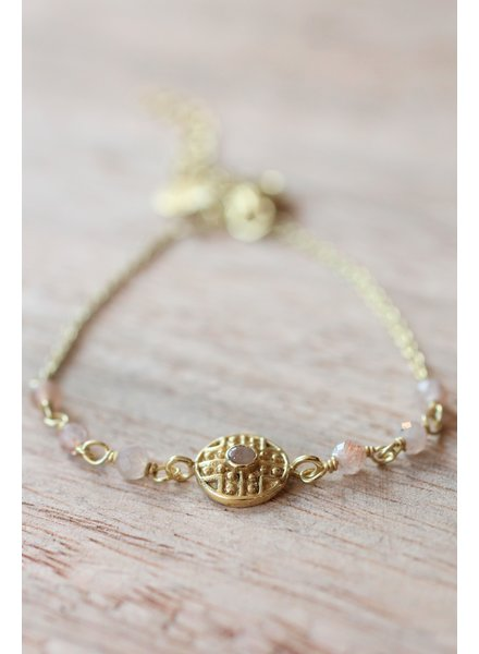 Muja Juma Bracelet Rose Labyrinth coin