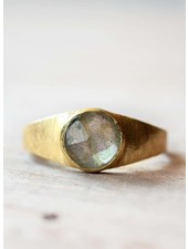 Muja Juma Ring Fancy Signet Labradorite