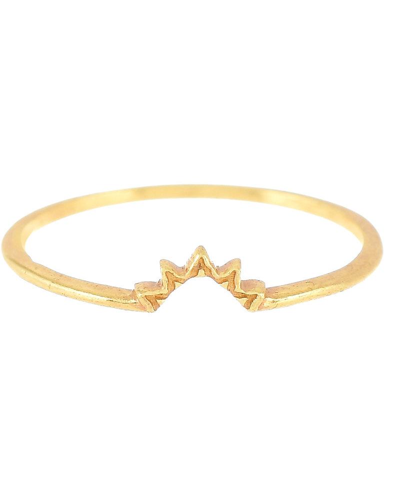 Muja Juma Ring  gold plated 925 sterling silver Pink opal