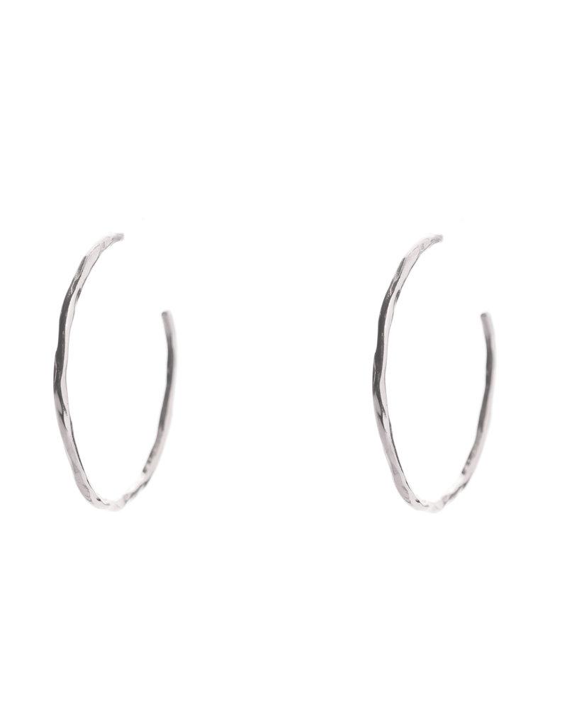 Muja Juma Earring Silver Creole 3,5 hammered