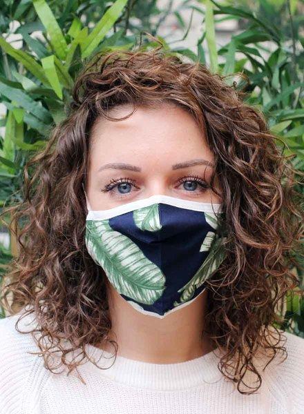 Muja Juma Mouth mask Jungle Blue